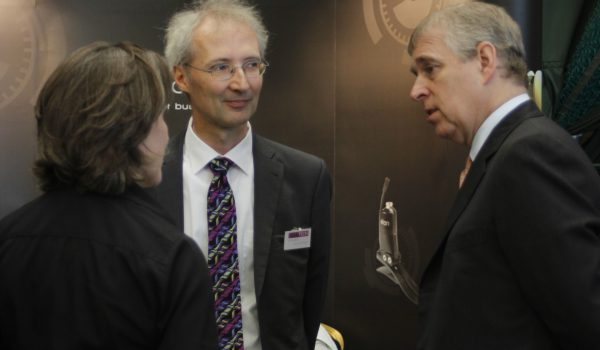 HRH Prince Andrew visits Blatchford at Teentech