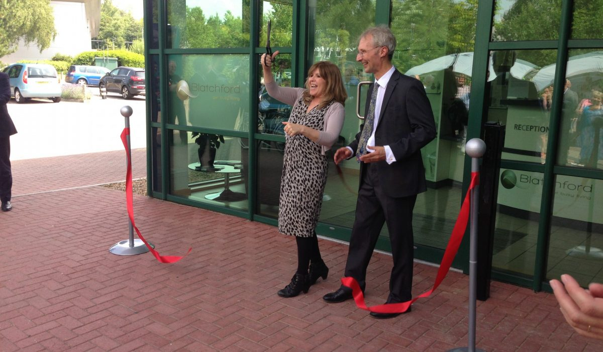 Maggie Philbin opens new Blatchford Headquarters and Technology Centre