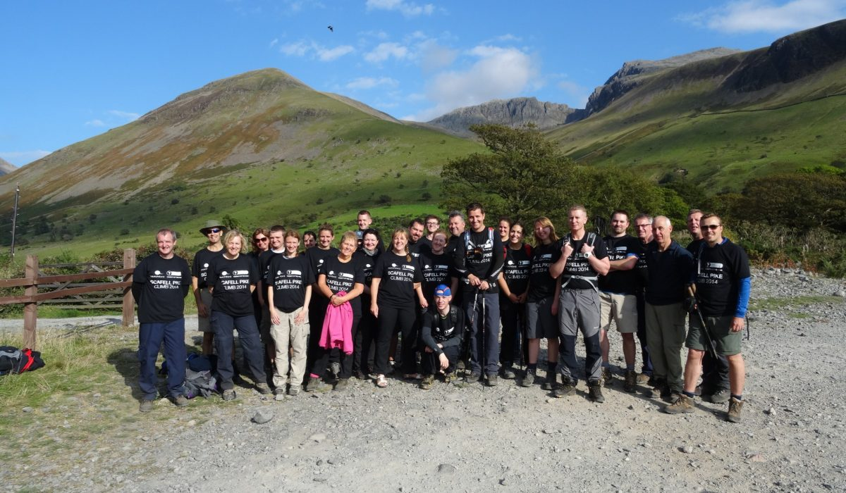 Blatchford staff climb Scafell Pike for charity