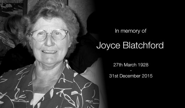 In memory of Mrs Joyce Blatchford 1928 – 2015