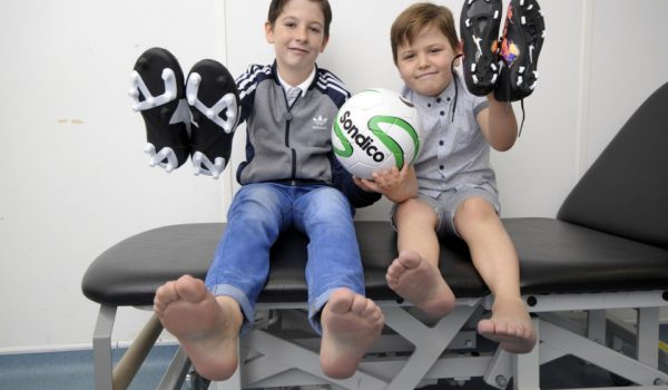 Football mad brothers receive new feet through Blatchford Private Clinic